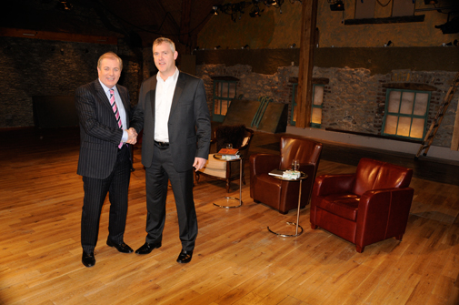 Mark with Gavin Duffy in the Den