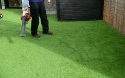 Pictures of Installation and Aftercare of artificial grass