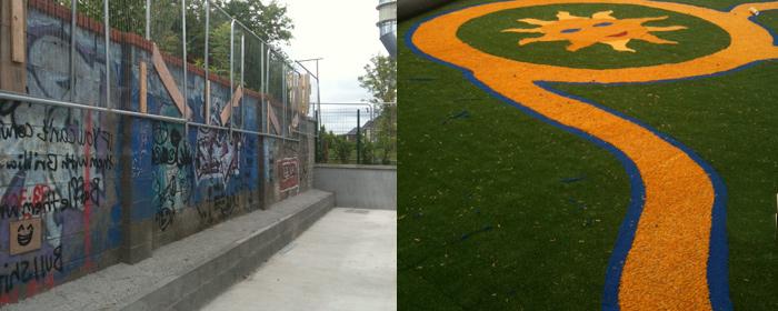 we turn playground surfaces into play grass