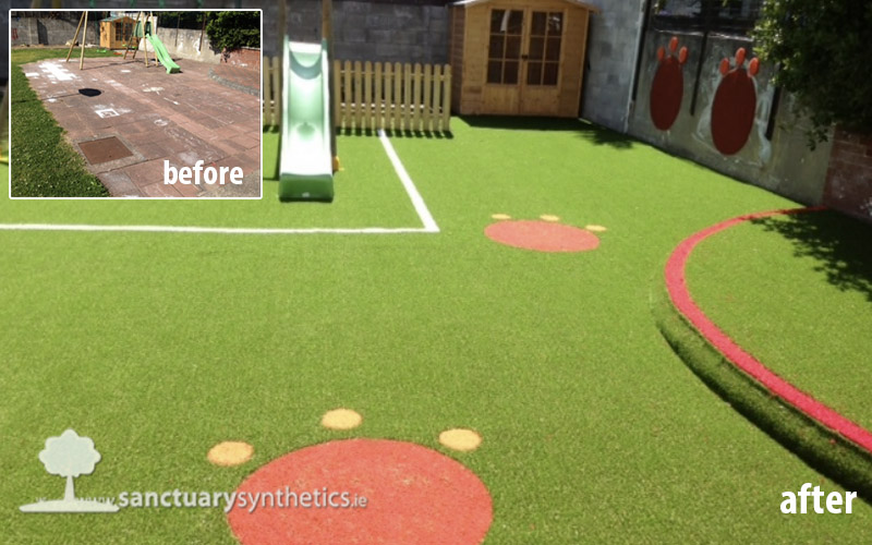 Fake Grass for Creche and Montessori Play Area
