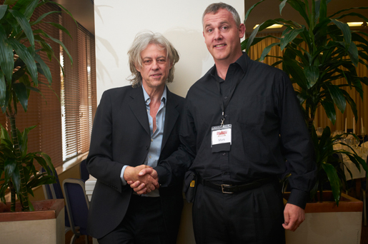 Bob Geldof meets Mark O'Loughlin