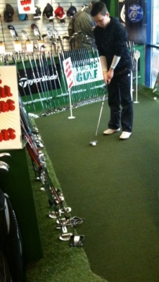 Indoor Putting Green – at Golf Retail Store