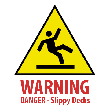 Avoid dangerous slippy decks with Artificial grass for decking