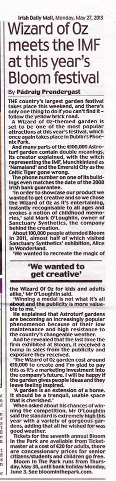 Irish Daily Mail May '13