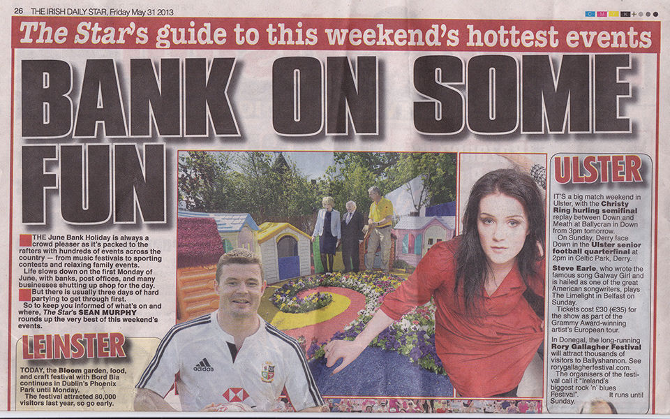 Irish Daily Star May '13