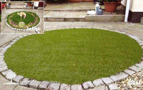 Artificial grass for gardens with dogs/pets