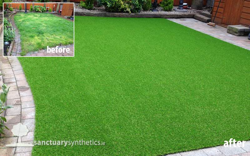 Artificial grass for patchy back gardens