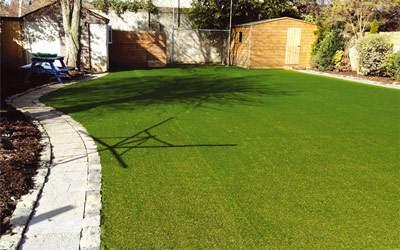 Waterlogged Garden Grass (after)