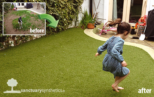 Artificial garden grass for small back garden - Dublin, Ireland