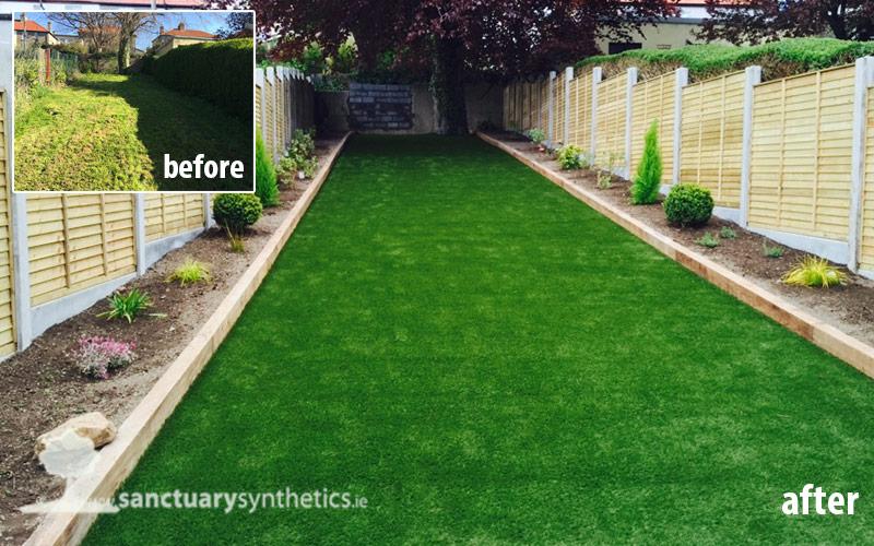 Artificial garden grass lawn – Drumcondra