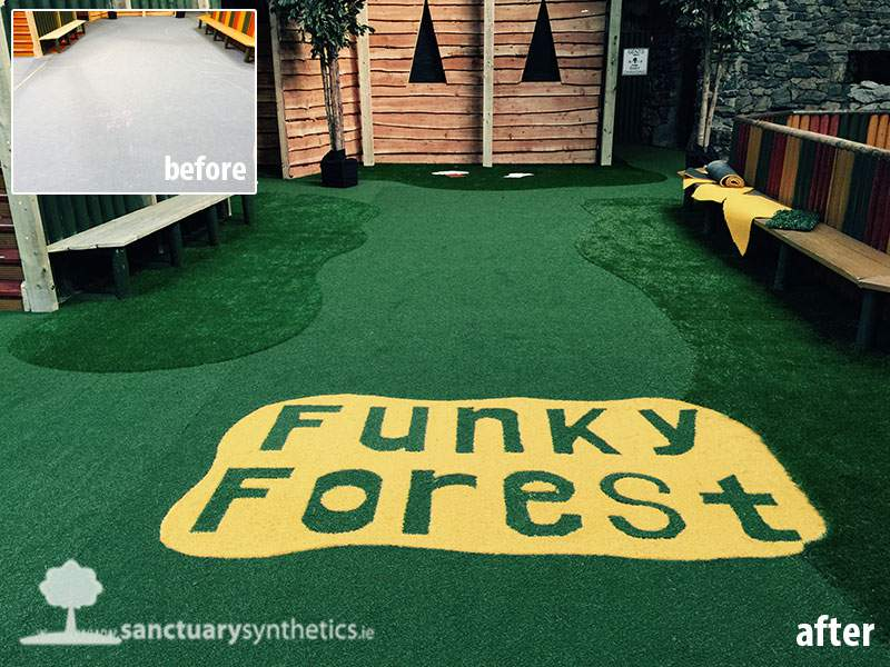 Artificial Grass Flooring at Indoor Play Centre