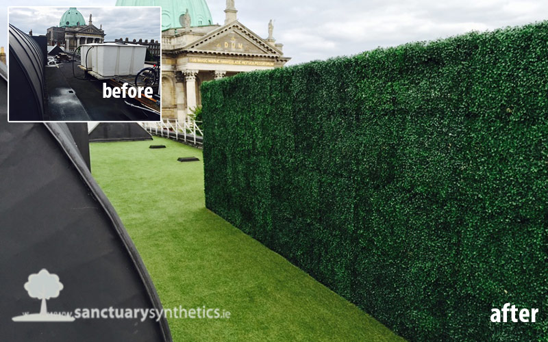 Artificial grass for office rooftop – Rathmines