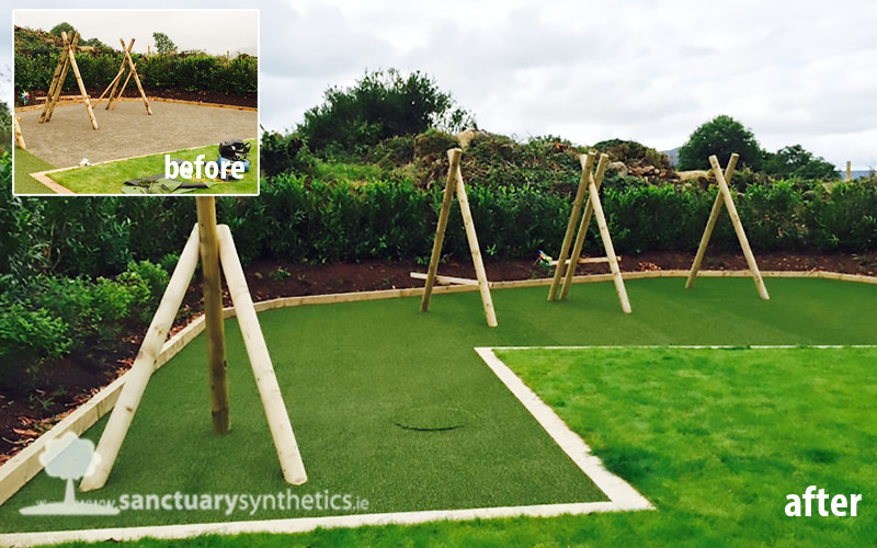 How's this for a clean and safe playarea surface?
