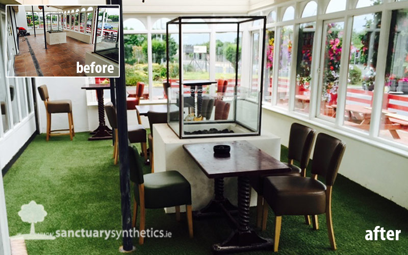 Artificial grass – the perfect solution for beer gardens