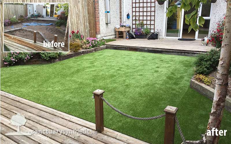 Artificial grass for small back garden - Hampton Court