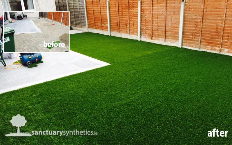 SAVE MONEY – You can part install an artificial garden lawn