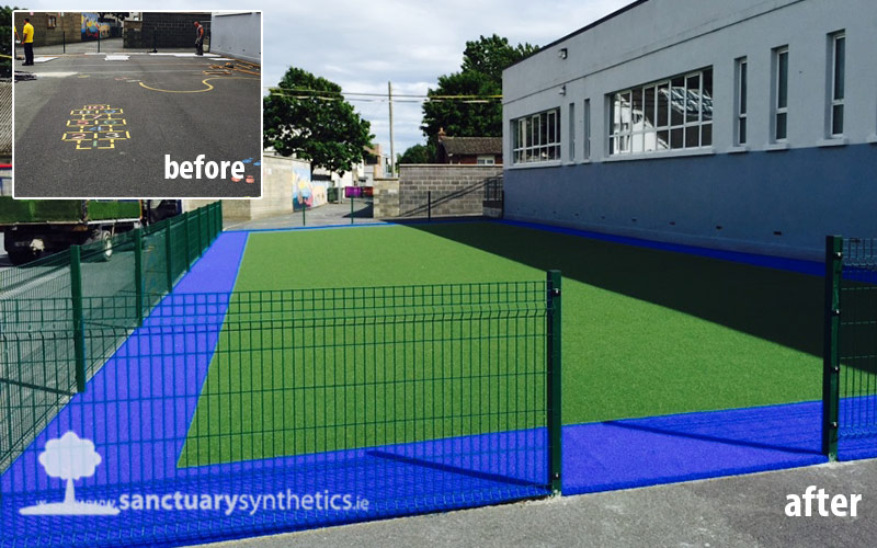 Artificial school playgrass