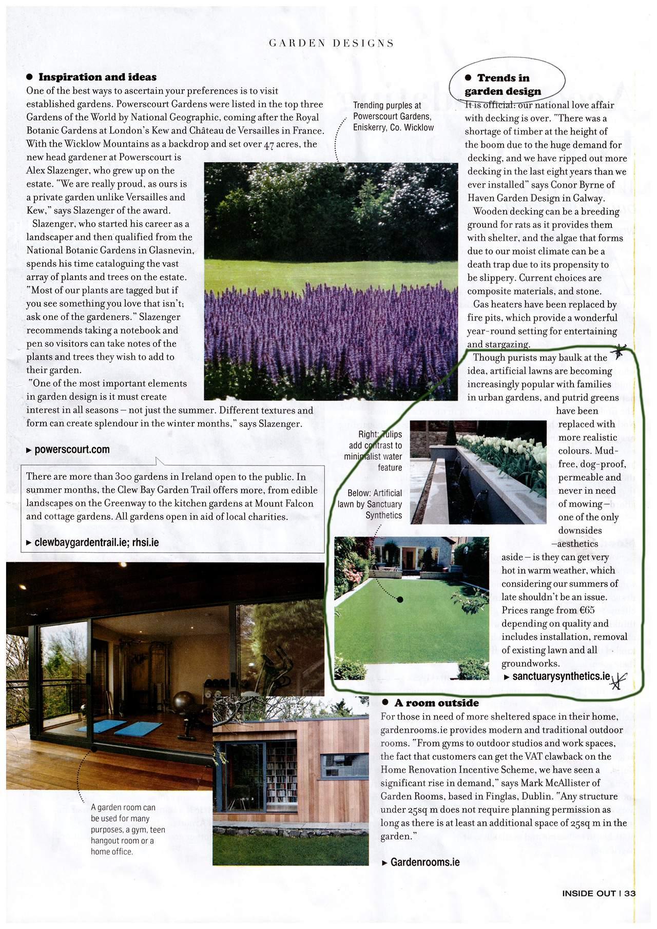 Irish Times Garden design trends 2015