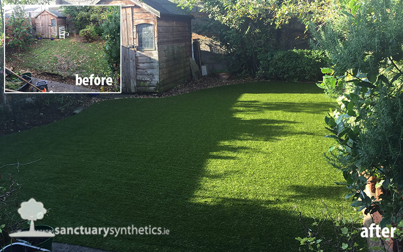 Artificial Grass Back Garden Lucan