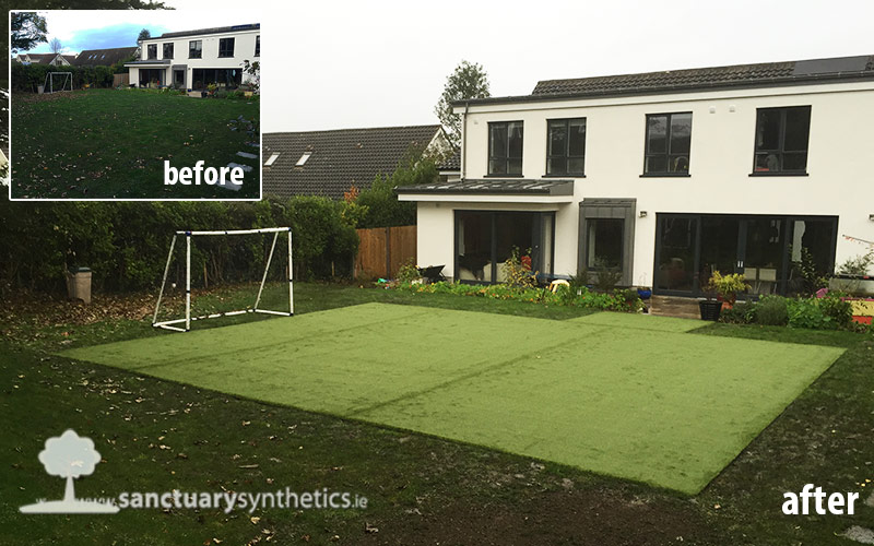Need an all year round soccer practice surface at home?
