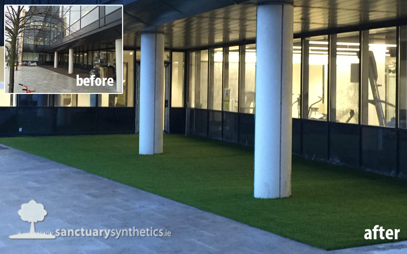 Artificial grass for office refurb