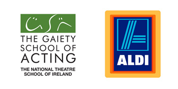 Aldi and Gaiety School of Acting logos