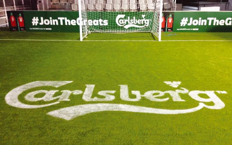 Fake grass for Carlsberg event