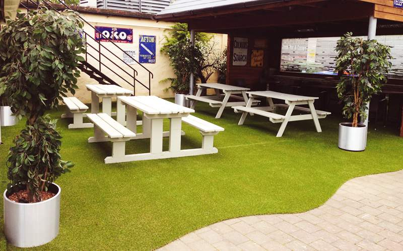 Sanctuary grass in beer garden - Dunboyne