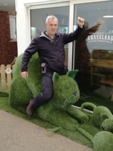Mark on our giant grass cat