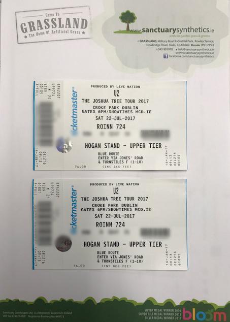 Win U2 Tickets - courtesy of Sanctuary Synthetics