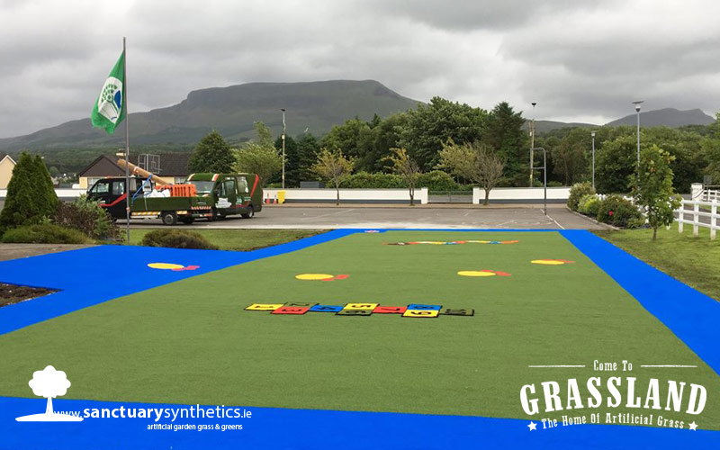 artificial grass school playground Leitrim - AFTER