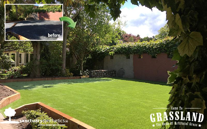 Another Beautiful Dublin Garden with Artificial Grass