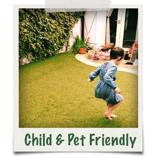 our grass is child and pet friendly